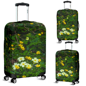 Luggage Cover - Irish Spring Primroses and Lesser Celandine Flowers Luggage Cover Moods of Ireland