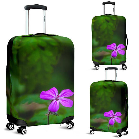 Luggage Cover - Lone Herb Robert Blossom during Irish Spring Luggage Cover Moods of Ireland