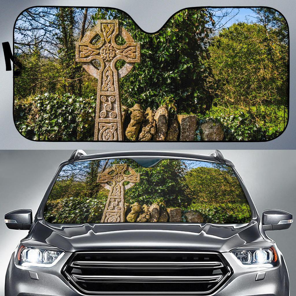 Auto Sun Shade - Celtic Cross at Dysert O'Dea, County Clare Auto Sun Shade Moods of Ireland
