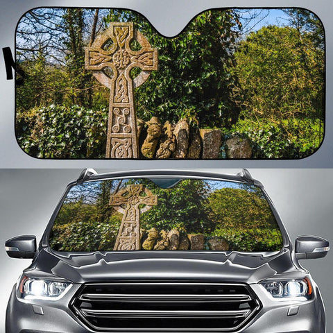 Image of Auto Sun Shade - Celtic Cross at Dysert O'Dea, County Clare Auto Sun Shade Moods of Ireland