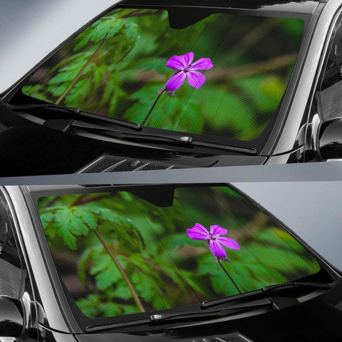 Auto Sun Shade - Lone Herb Robert Blossom in County Galway Auto Sun Shade Moods of Ireland