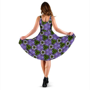 Midi Dress - Irish Bluebell Breeze