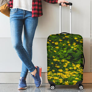 Luggage Cover - Irish Spring Meadow of Lesser Celandine Flowers