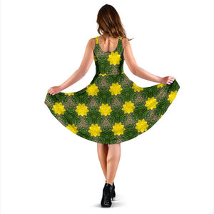 Midi Dress - Irish Spring Daffodil Delight