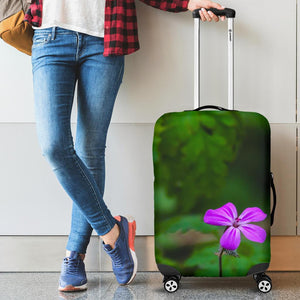 Luggage Cover - Lone Herb Robert Blossom during Irish Spring