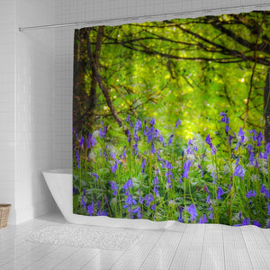 Shower Curtain - Clondegad Bluebells in County Clare, Ireland
