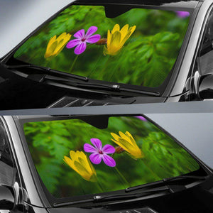 Auto Sun Shade - Irish Spring Wildflowers at Thoor Ballylee, County Galway