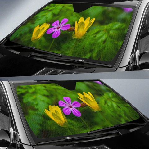 Auto Sun Shade - Irish Spring Wildflowers at Thoor Ballylee, County Galway Auto Sun Shade Moods of Ireland