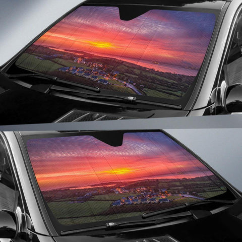 Image of Auto Sun Shade - Spring Sunrise over Kildysart, County Clare Auto Sun Shade Moods of Ireland