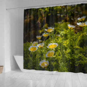 Shower Curtain - Irish Poached Egg Flowers