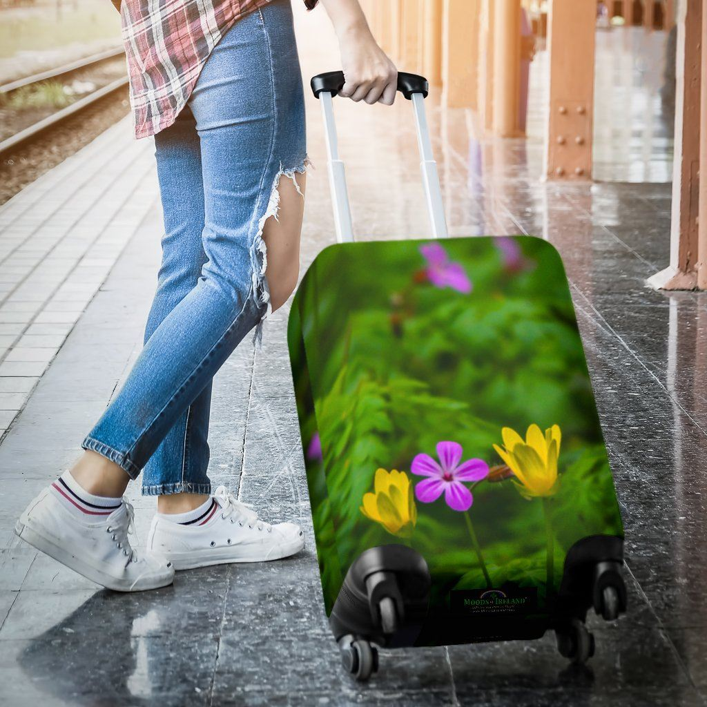 Luggage Cover - Irish Wildflowers at Thoor Ballylee, County Galway Luggage Cover Moods of Ireland