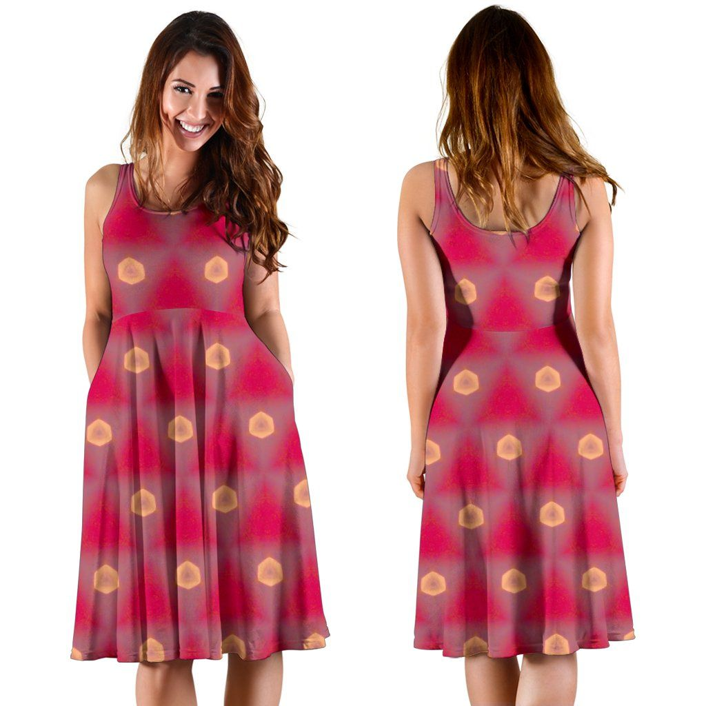 Midi Dress - Waning Irish Crescent Moon at Spring Sunrise Midi Dress Moods of Ireland