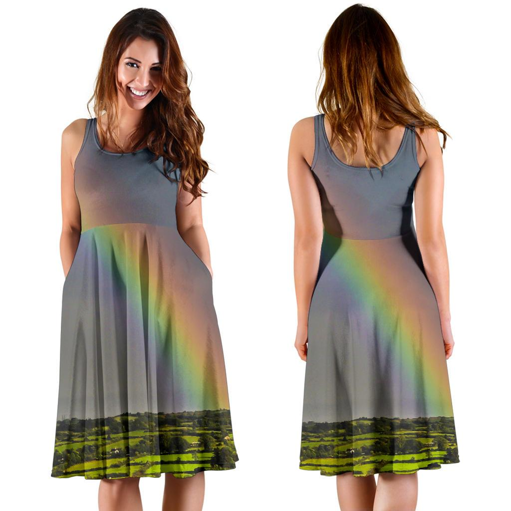 Midi Dress - County Clare Rainbow Midi Dress Moods of Ireland