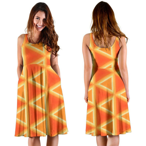Women's Dress - Irish Spring Sunrise Midi Dress Moods of Ireland