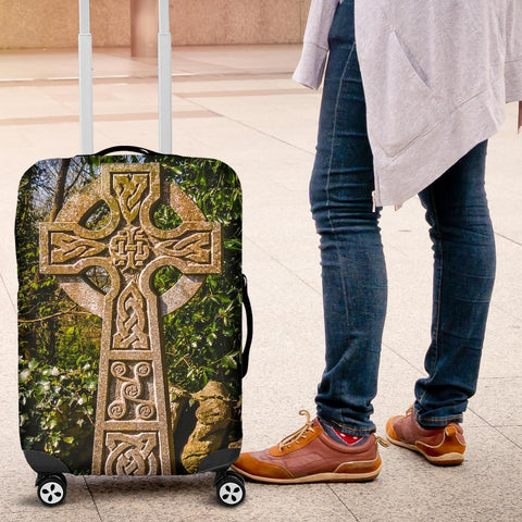 Image of Luggage Cover - Celtic Cross at Dysert O'Dea, County Clare Luggage Cover Moods of Ireland