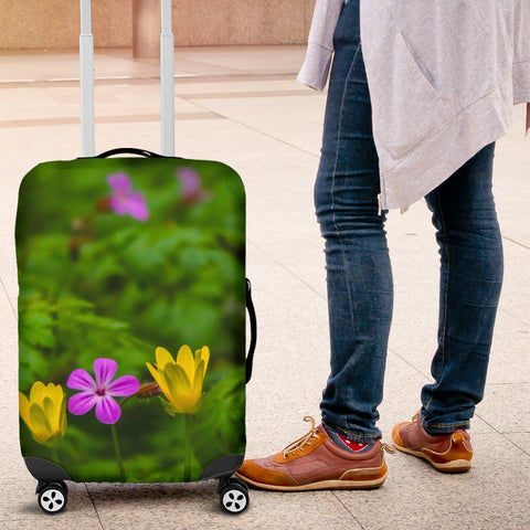 Image of Luggage Cover - Irish Wildflowers at Thoor Ballylee, County Galway Luggage Cover Moods of Ireland