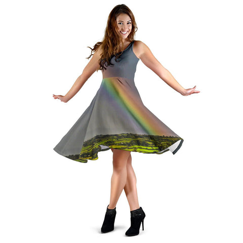 Image of Midi Dress - County Clare Rainbow Midi Dress Moods of Ireland