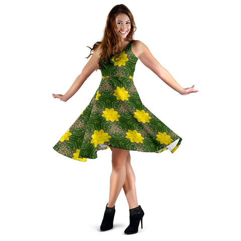 Image of Midi Dress - Irish Spring Daffodil Delight Midi Dress Moods of Ireland