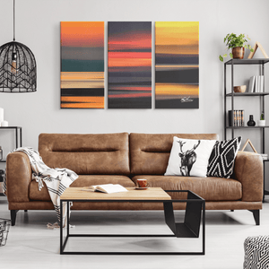 Triptych Canvas - Abstract Irish Sunrises Canvas Wall Art Set 3 teelaunch