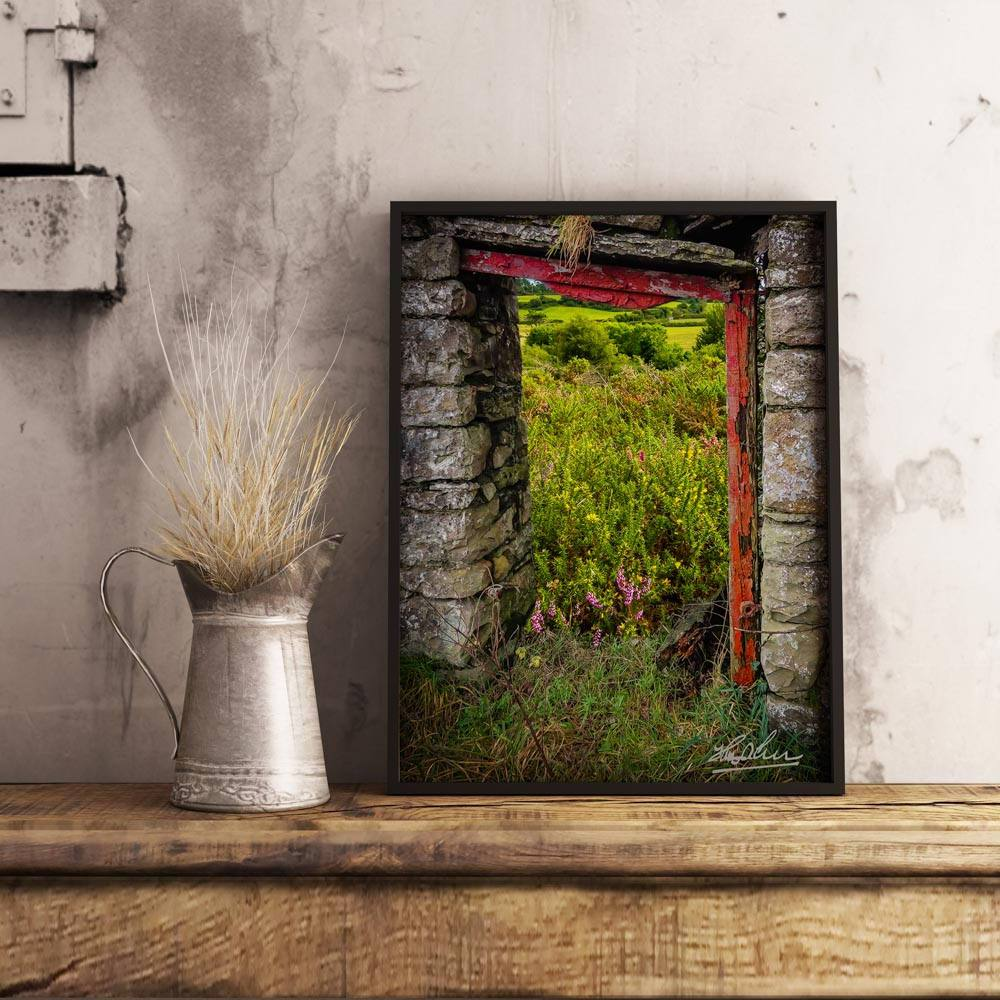 Into the Magical Irish Countryside, Nature Art Poster Poster Moods of Ireland