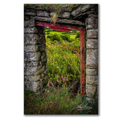 Image of Into the Magical Irish Countryside, Nature Art Poster Poster Moods of Ireland