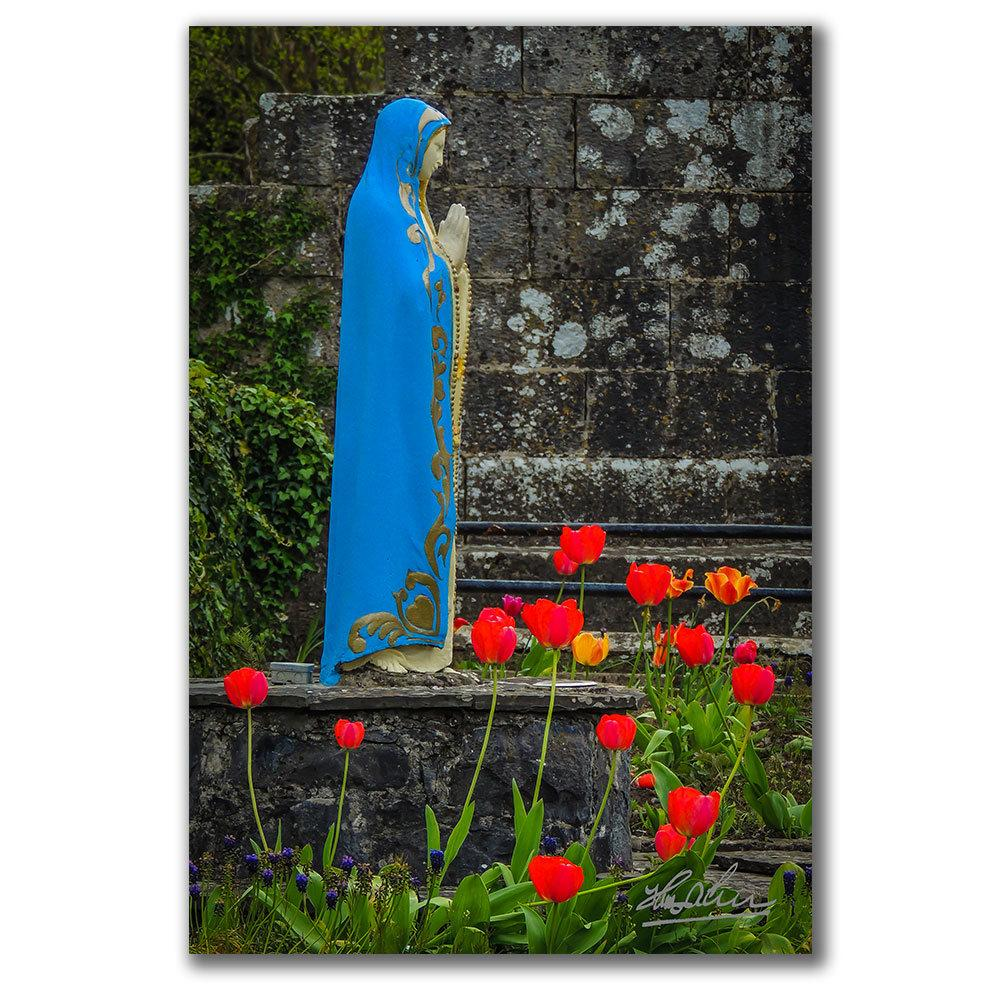 Virgin Mary at Ireland's Quin Abbey, Irish Poster Poster Moods of Ireland