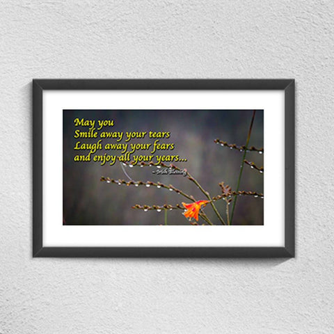 Image of May you smile away your tears Irish Blessing Poster Poster Moods of Ireland