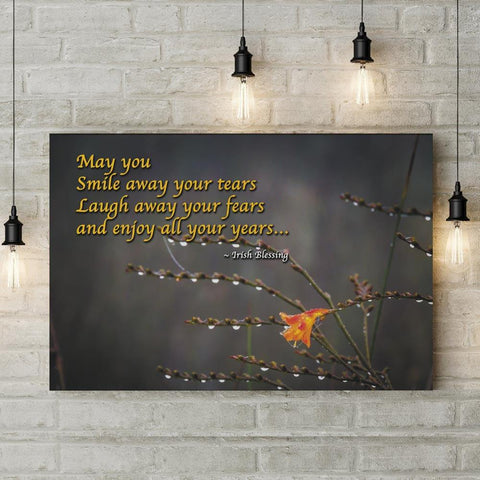 May you smile away your tears Irish Blessing Poster