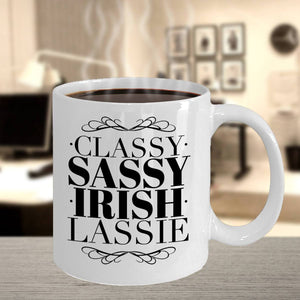 Classy Sassy Irish Lassie Coffee Mug - James A. Truett - Moods of Ireland - Irish Art