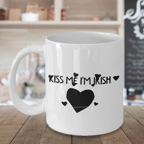 Image of Kiss Me I'm Irish Coffee Mug - James A. Truett - Moods of Ireland - Irish Art