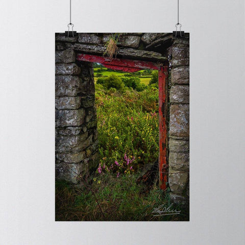 Image of Into the Magical Irish Countryside, Nature Art Poster