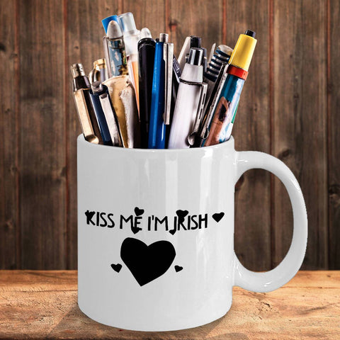 Image of Kiss Me I'm Irish Coffee Mug Coffee Mug Moods of Ireland