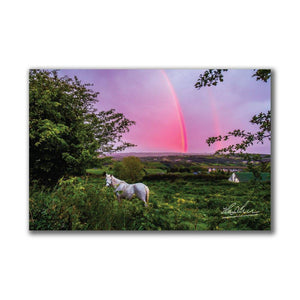 Monochrome Irish Sunset, Irish Landscape Poster Poster Moods of Ireland