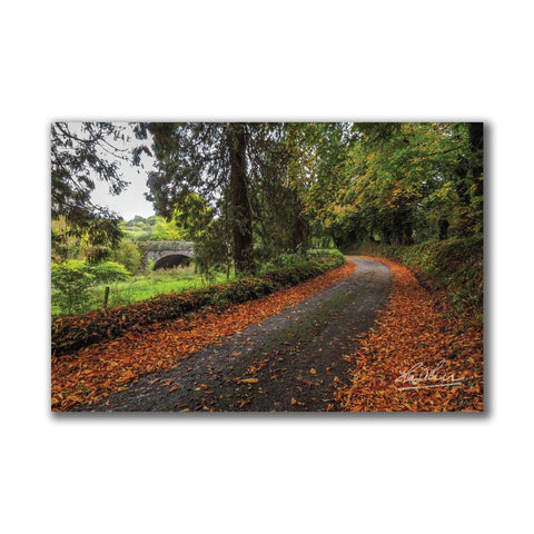 Image of Clondegad Country Road in Autumn Irish Poster Print Poster Moods of Ireland