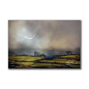 Solar Eclipse Over Irish Countryside Ireland Poster Print Poster Moods of Ireland
