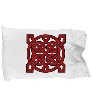 Red Mandala, Pillow Case, Celtic Gift, Irish pillowcase Moods of Ireland