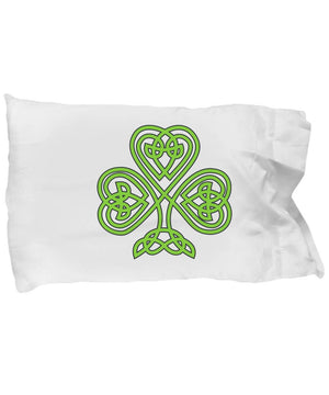 Irish Gift Shamrock Celtic Design Pillow Case Pillowcase Moods of Ireland