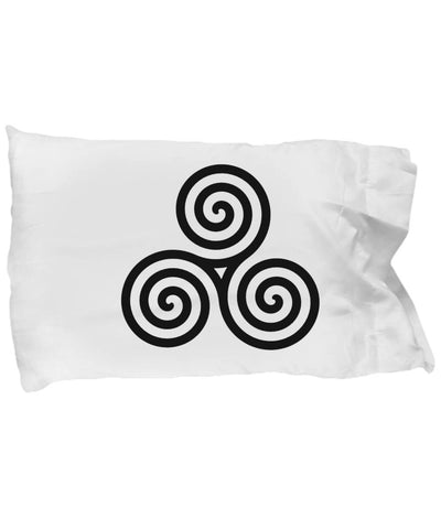 Celtic Design, Irish Gift, Triple Spiral, Pillow Case pillowcase Moods of Ireland