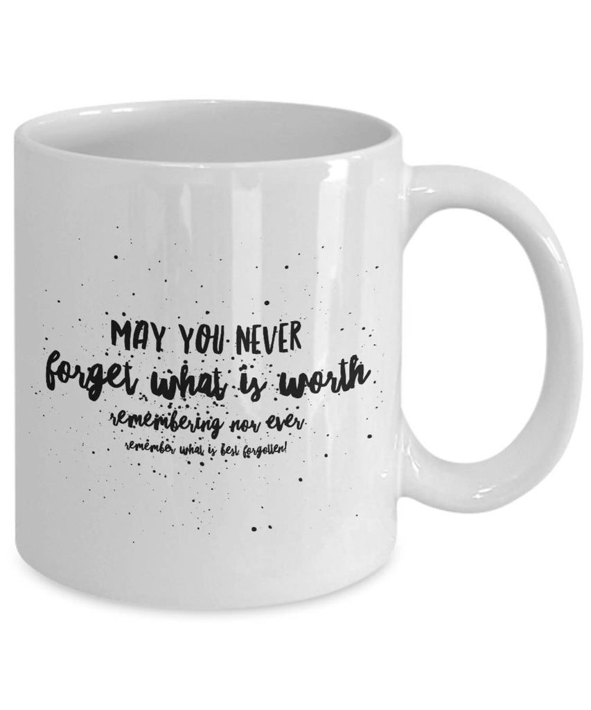 Irish Blessing  May You Never Forget  BFF Gift  Irish Gift  Coffee Mug  Ceramic