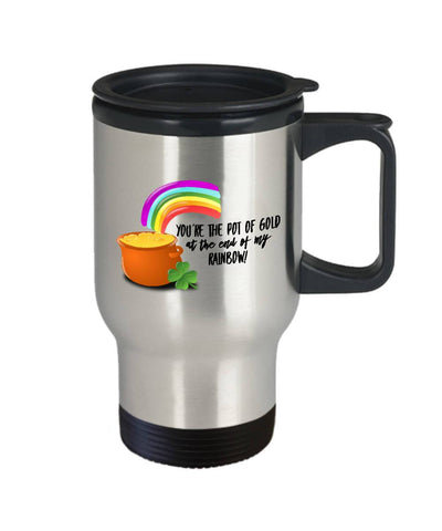 Image of You're the Pot of Gold Irish Travel Mug, Stainless Steel - James A. Truett - Moods of Ireland - Irish Art