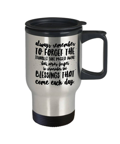 Image of Irish Blessing Always Remember Travel Mug Stainless Steel Travel Mug Moods of Ireland