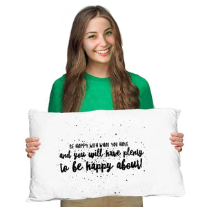 Be Happy Irish Proverb Pillow Case