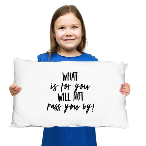 Image of What is for You Will Not Pass You By Irish Proverb Pillow Case