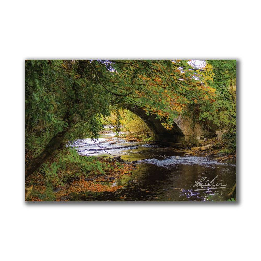 Autumn at Clondegad Bridge Irish Poster Print Poster Moods of Ireland