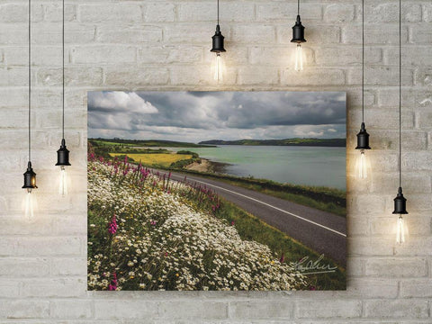 Image of Wildflowers along Ireland's Shannon Estuary Irish Poster Print Poster Moods of Ireland