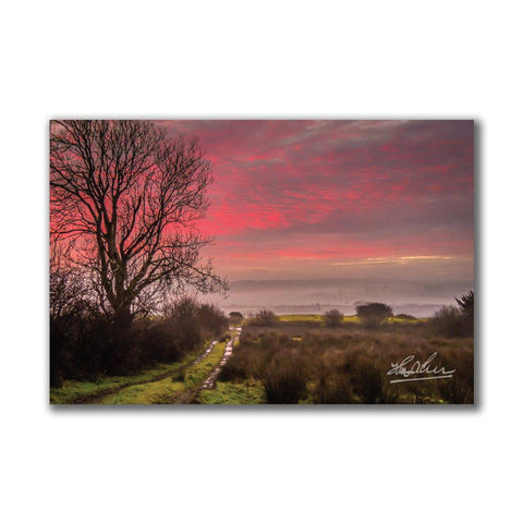 Image of Sunrise over County Clare Ireland Poster Print