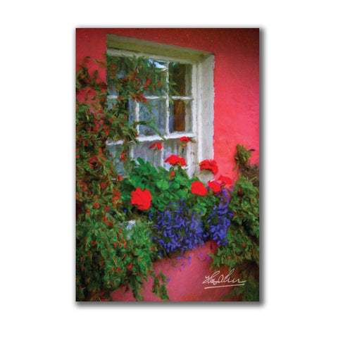 Image of Irish Cottage Window at Bunratty Poster