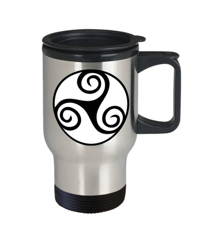 Image of Celtic Gift, Irish Design, Travel Mug, Stainless Steel
