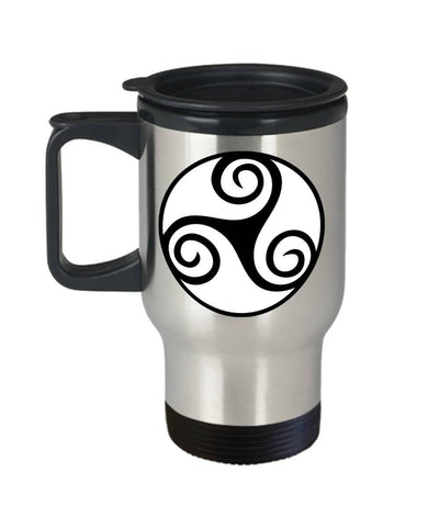 Image of Celtic Gift, Irish Design, Travel Mug, Stainless Steel Travel Mug Moods of Ireland