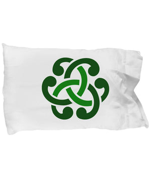Celtic Circle, Irish Gift, Green Design, Pillow Case pillowcase Moods of Ireland